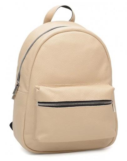 Фотография Кожаный женский рюкзак бежевого цвета Ricco Grande 1l655-beige