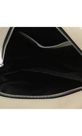 Женский кожаный бежевый матовый рюкзак Ricco Grande 1l655-beigemat