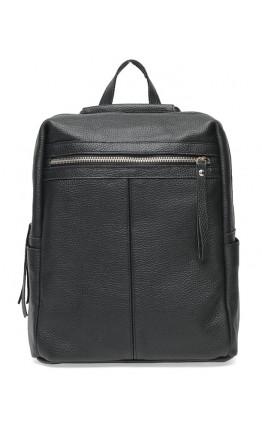 Женский кожаный рюкзак черный Ricco Grande 1l656-black