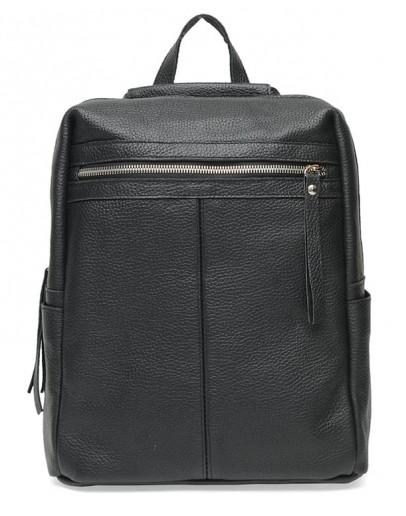 Фотография Женский кожаный рюкзак черный Ricco Grande 1l656-black