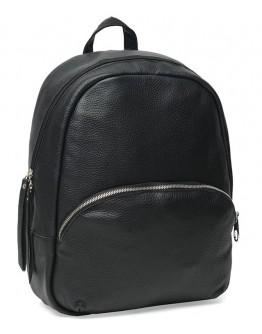 Женский черный кожаный рюкзак Ricco Grande 1l658-black