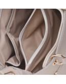 Фотография Кожаная женская бежевая сумка Ricco Grande 1L797-beige
