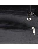 Фотография Кожаная женская черная сумка с тиснением Ricco Grande 1l797rep-black