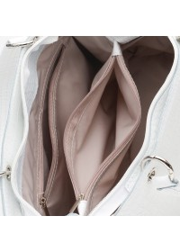 Женская белая кожаная сумка Ricco Grande 1l797rep-white