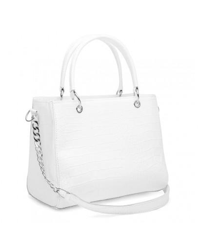 Фотография Женская белая кожаная сумка Ricco Grande 1l797rep-white