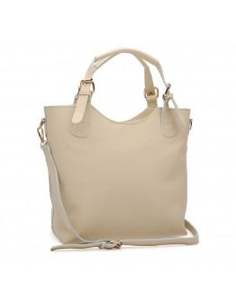 Женская бежевая кожаная сумка Ricco Grande 1l848-beige