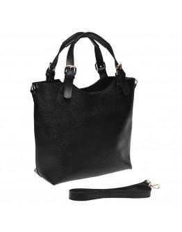 Женская черная кожаная сумка Ricco Grande 1L848-black