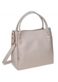 Бежевая женская кожаная сумка Ricco Grande 1l908-beige