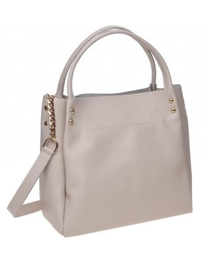 Фотография Бежевая женская кожаная сумка Ricco Grande 1l908-beige
