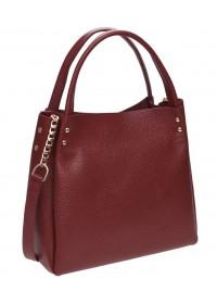 Красная женская кожаная сумка Ricco Grande 1l908x-bordo