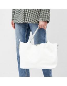 Женская белая кожаная сумка Ricco Grande 1l943-white