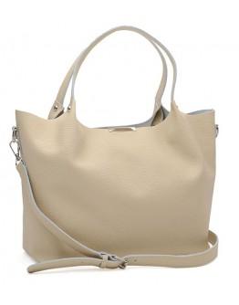 Женская кожаная бежевая сумка Ricco Grande 1l943FL-beige