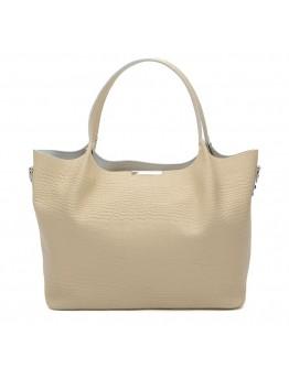 Женская бежевая кожаная сумка Ricco Grande 1l943rep-beige