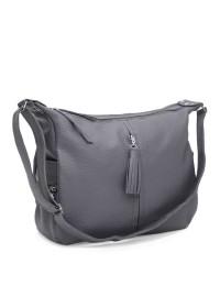 Серая кожаная женская сумка Ricco Grande 1l947-1gr-gray