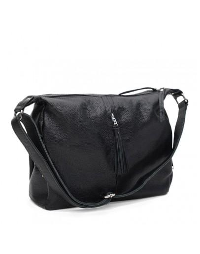 Фотография Черная кожаная женская сумка Ricco Grande 1l9477-bblack