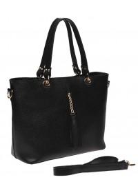 Черная женская кожаная сумка Ricco Grande 1L953-black