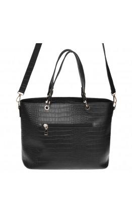 Женская кожаная сумка Ricco Grande 1l953rep-black
