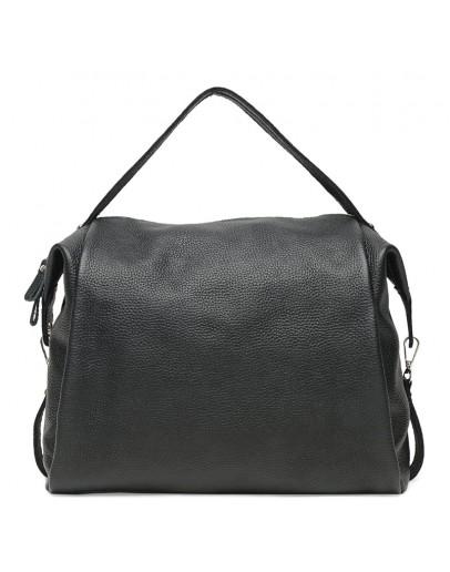 Фотография Женская черная кожаная сумка Ricco Grande 1l975-black