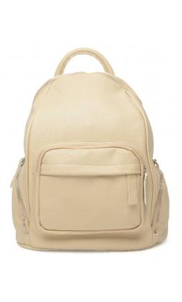 Женский рюкзак кожаный цвет бежевый Ricco Grande 1l976-beige