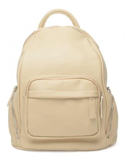 Фотография Женский рюкзак кожаный цвет бежевый Ricco Grande 1l976-beige