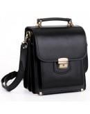 Фотография Кожаная черная мужская сумка - барсетка Manufatto 1spb-black