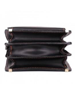 Добротная черная борсетка из кожи Manufatto 1spb-gl