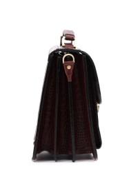 Классическая стильная барсетка из кожи Manufatto 1spb brown
