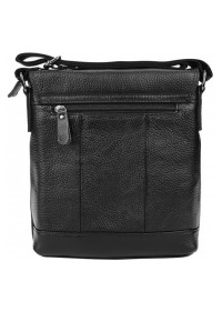 Черная кожаная сумка через плечо 1t8153m-black