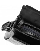 Фотография Мужская черная кожаная сумка на плечо Borsa Leather 1t8871-black