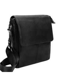 Мужская черная кожаная сумка на плечо Borsa Leather 1t8871-black