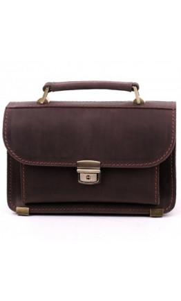 Мужская барсетка классическая коричневая Manufatto 2-vis brown