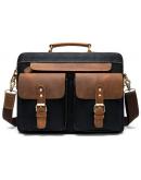 Фотография Мужская сумка портфель с кожаными вставками Vintage 20002