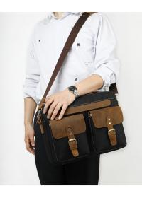 Мужская сумка портфель с кожаными вставками Vintage 20002