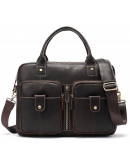 Фотография Мужская коричневая сумка деловая Vintage 20004