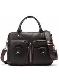 Мужская коричневая сумка деловая Vintage 20004