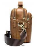 Фотография Мужская рыжая кожаная горизонтальная сумка Vintage 20005