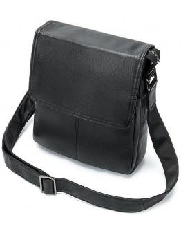 Черная кожаная сумка через плечо Vintage 20015
