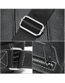 Фотография Кожаная черная мужская сумка на плечо Vintage 20018
