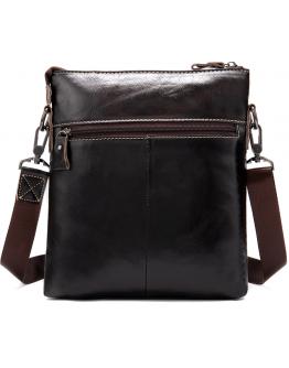 Коричневая кожаная сумка на плечо Vintage 20025