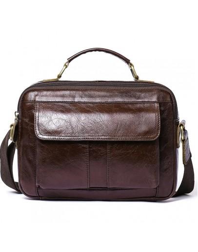 Фотография Горизонтальная мужская кожаная сумка - барсетка Vintage 20027
