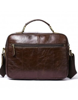 Горизонтальная мужская кожаная сумка - барсетка Vintage 20027