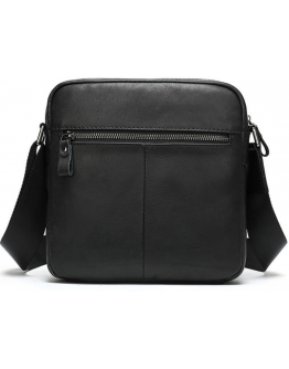 Мужская черная сумка через плечо Vintage 20034