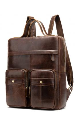 Кожаный коричневый рюкзак - сумка для ноутбука Vintage 20035