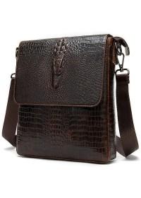 Мужская кожаная сумка на плечо с тиснением Vintage 20039