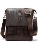 Фотография Мужская кожаная сумка на плечо с тиснением Vintage 20039