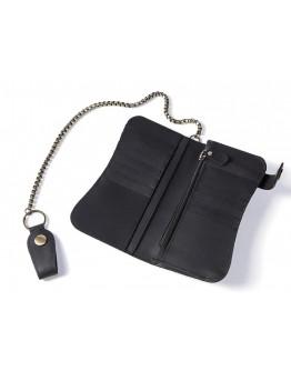 Кожаный мужской черный клатч кошелек Vintage 20044