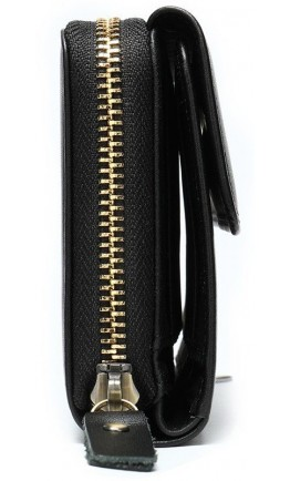 Черный клатч мужской кожаный Vintage 20045