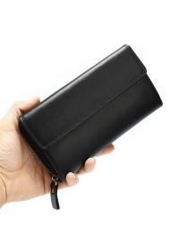 Черный клатч мужской кожиный Vintage 20045