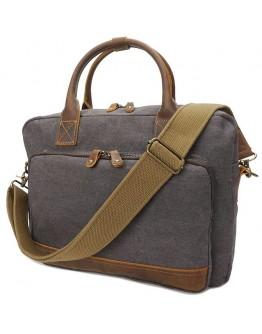 Серая текстильная сумка Vintage 20062