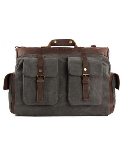 Фотография Текстильная вместительная мужская сумка Vintage 20066